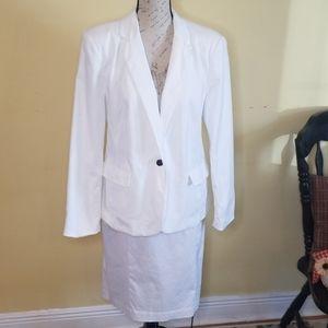 Worthingtonton white lined blazer sz 16 plus